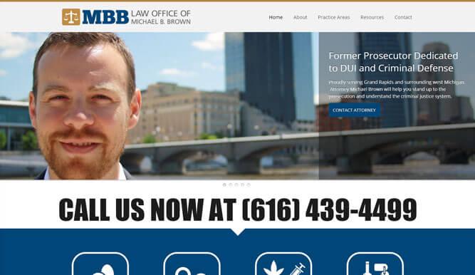 Law Office of Michael B. Brown - 2 Acre Studios - Web Design in Kalamazoo, Michigan